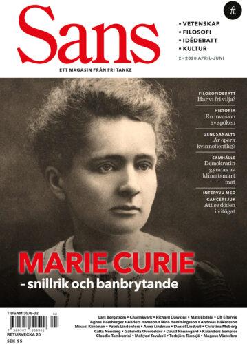 Sans 2/2020: Marie Curie, vidskepelse och den fri viljans vara eller icke vara