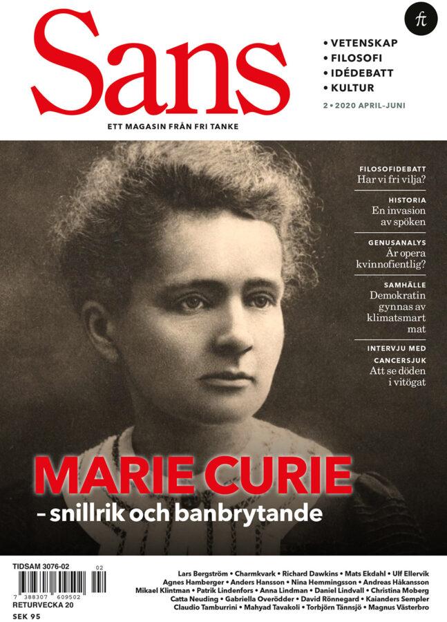Sans 2/2020: Marie Curie, vidskepelse och den fri viljans vara eller icke vara, bound