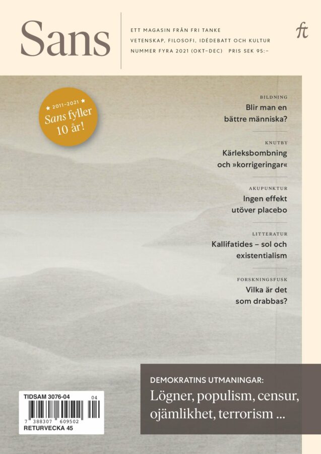 Sans 4/2021: Lögner, populism, censur, ojämlikhet, terrorism…, bound